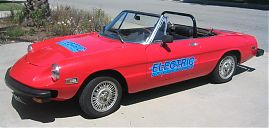 Alfa Romeo 2000 Spider Veloce Electric Conversion; side
