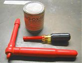 "Alfa Romeo Spider Veloce Electric Conversion: insulated torque wrench, insulated nut driver, No-Ox-Id ""A"" Special"