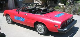 Alfa Romeo 2000 Spider Veloce Electric Conversion; back